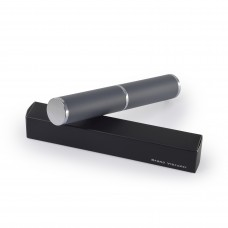Футляр туба металлический под ручку, круглый серый