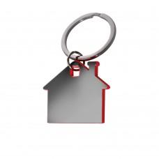 Брелок металлический Дом - Красный